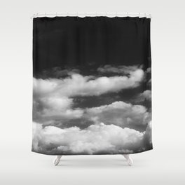 Clouds in black and white Shower Curtain
