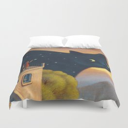 Eyes of the night Duvet Cover