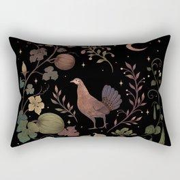 Wild Chicken with Autumn Vines Rectangular Pillow