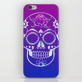 Love Skull (violette gradient) iPhone Skin
