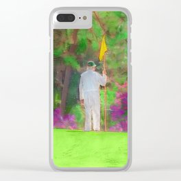 The Masters Golf Tournament - Golf Caddie - Augusta National Clear iPhone Case