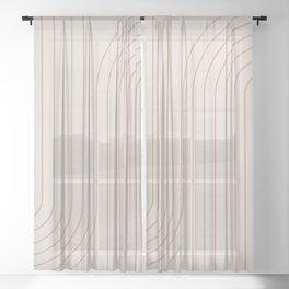 Minimal Line Curvature - Natural Sheer Curtain