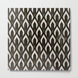Art Deco Marble Pattern Metal Print