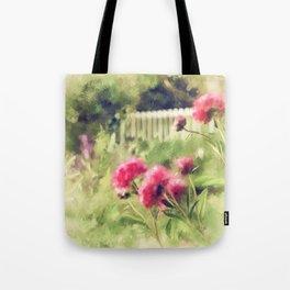 Pink Peonies In A Vintage Garden Tote Bag