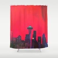 seattle Shower Curtains featuring Seattle. by Daniel Montero