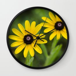Double Daisies Wall Clock