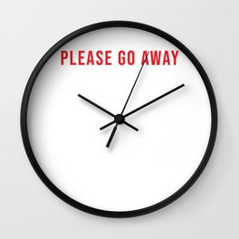 Please Go Away I'm Introverting (2) Wall Clock