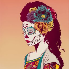 Notebook - Mexican Skull Lady - Hypathie Aswang