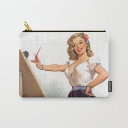 Vintage Pin Up Girl Artist Carry-All Pouch