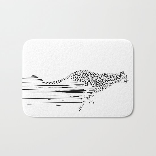 120km/h // (cheetah) Bath Mat
