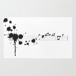 Splatter in D Minor Rug