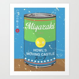 Howl's moving castle - Miyazaki - Special Soup Series  Art Print