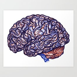 Brain Storming and tangled thoughts Art Print