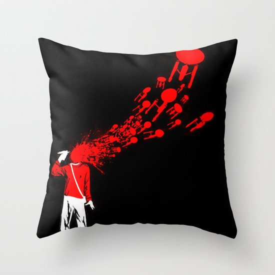 Trekkies in the Attic Throw Pillow