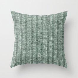 Moss Green Jersey Knit Pattern Throw Pillow