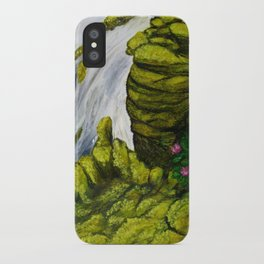 Mossy Waterfall iPhone Case