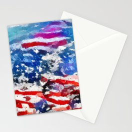 Star and Stripe Reflections Stationery Cards