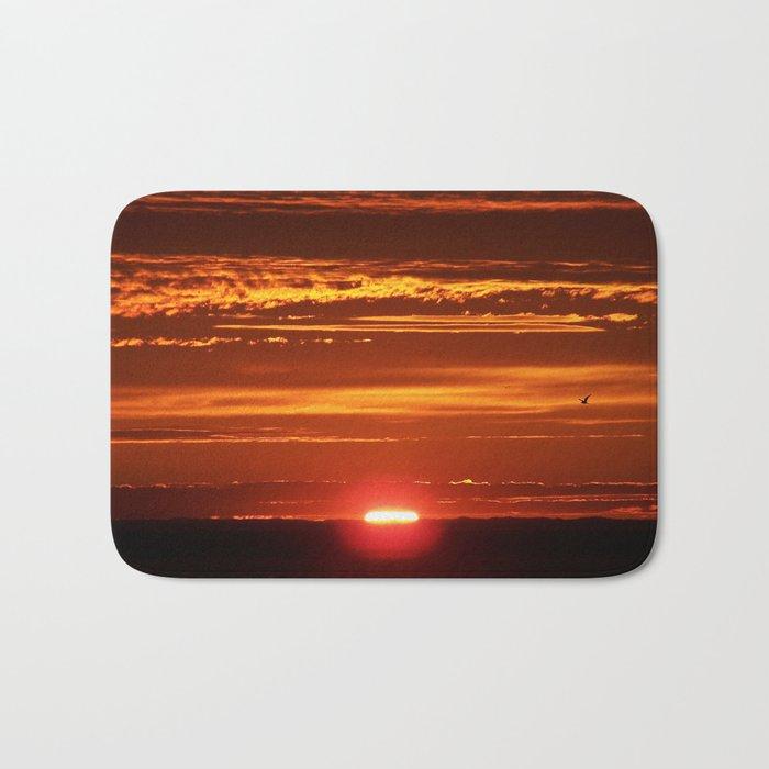 Red Sky Flight Bath Mat