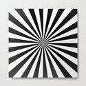 Black and White Starburst Pattern by designsoutofmind