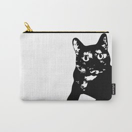 Graphic Cat | Black & White Carry-All Pouch