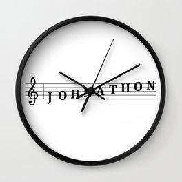 Name Johnathon Wall Clock