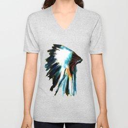 Indian Headdress Native America Illustration Unisex V-Neck