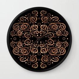 Mandala henna black Wall Clock