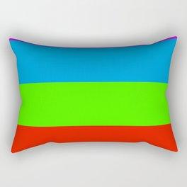 Fluorescent Rainbow |7 Colours Rectangular Pillow