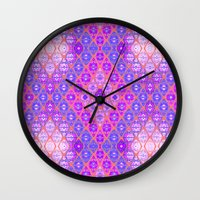 kilim Wall Clocks featuring Kilim 3 by EllaJo Design