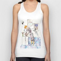 chef Tank Tops featuring petit chef by bgallery