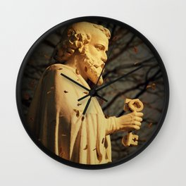 Golden Yesterdays Wall Clock
