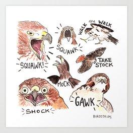 Bird no. 364: GAWK Art Print