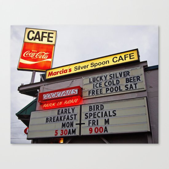 American cafe sign Canvas Print