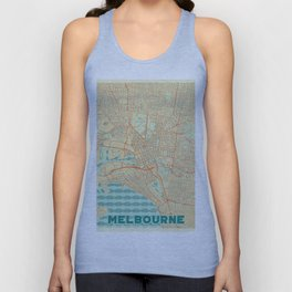 Melbourne Map Retro Unisex Tank Top
