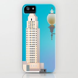 Baton Rouge, Louisiana - Skyline Illustration by Loose Petals iPhone Case