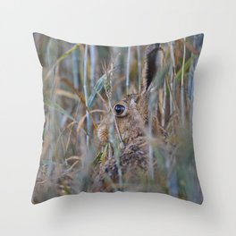Brown Hare Throw Pillow