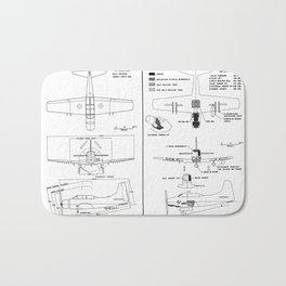 Douglas A-1E Skyraider Schematic Bath Mat