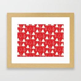 Christmas Tree Red Framed Art Print