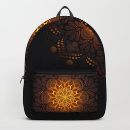 """Warm light Moroccan lantern Mandala"" Backpack"