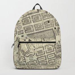 Vintage Map of Edinburgh Scotland (1844) Backpack