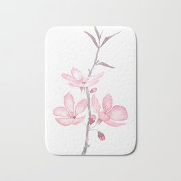 pink cherry blossom macro 2018 Bath Mat
