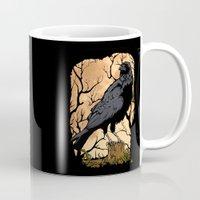crow Mugs featuring Crow by Murat Sünger