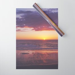 oregon coast sunset Wrapping Paper