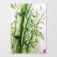 bamboo Canvas Prints featuring Bamboo by rchaem