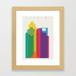 Shapes of Houston. Accurate to scale Framed Art Print