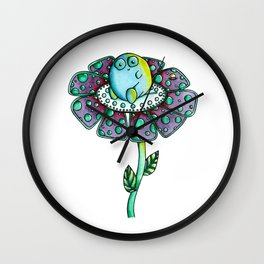 Flower Monster Wall Clock