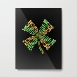 GoodLuck Four Leaf Clover Metal Print