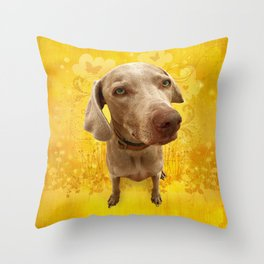 PARKER POSEY (dandilion) puffy cloud series Throw Pillow