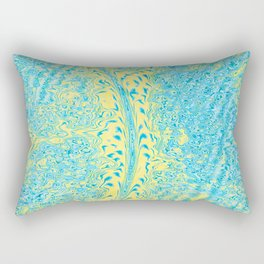 Yellow Fluid Effect Rectangular Pillow