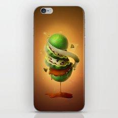Sliced Green Wallnut iPhone Skin